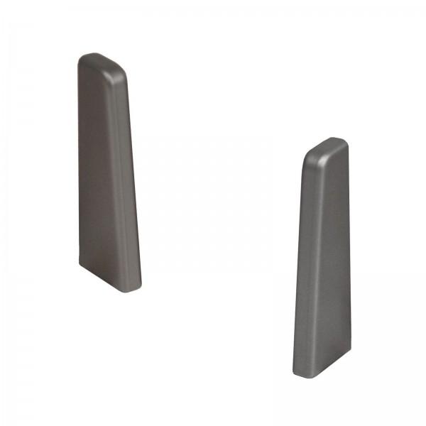 Kronotex Endkappen Paar Edelstahl Uni für Ktex1 (58 mm) Randleiste