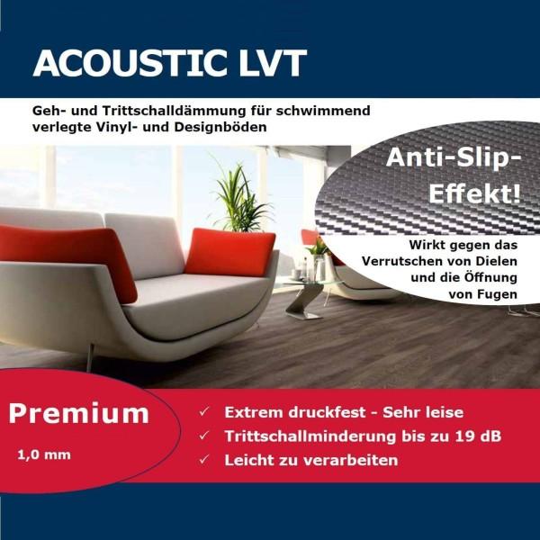 Acoustic LVT 12,5 m² Anti Rutsch Dämmunterlage Designbelag