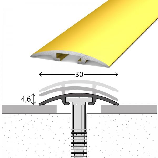 Übergangsprofil 0-17,5 mm D.O.S 30 mm Gold 270 cm - 1002010270