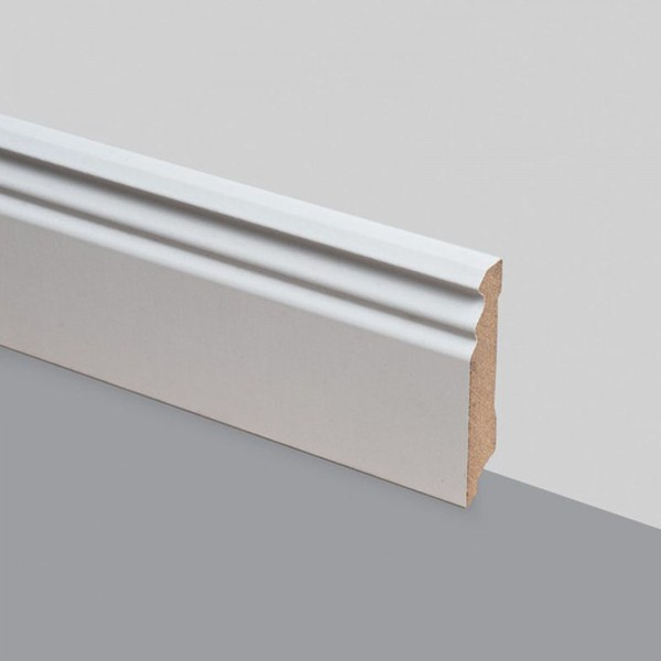 Kronotex Berliner Profil Weiß 18x80 mm Randleiste 240 cm
