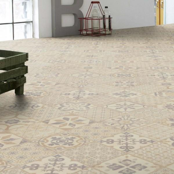 Tarkett Starfloor Click 30 Retro Fliese Grey Beige Klick Vinylboden - 1,68 m²