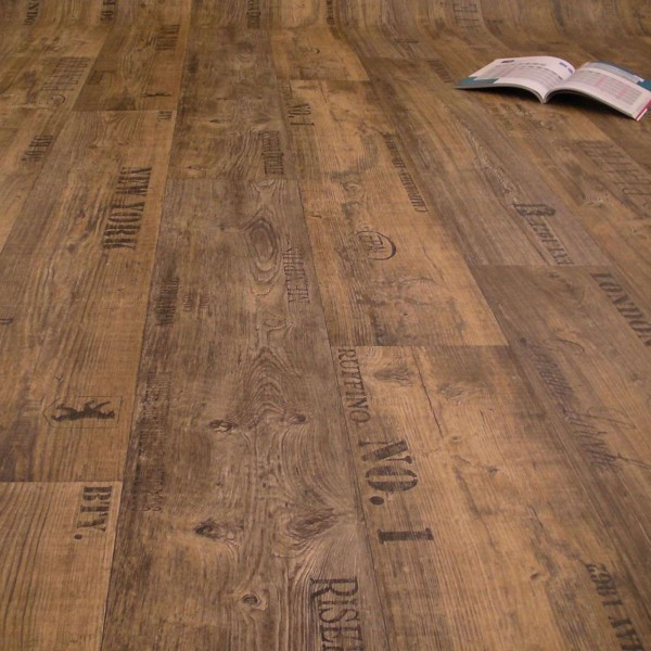 PVC Bodenbelag Rustikal Dunkel mit Aufdruck - M U S T E R