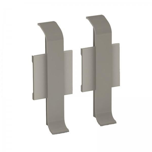 Aluminium Clip Sockelleiste 1 Paar Verbinder Edelstahl Matt Prinz