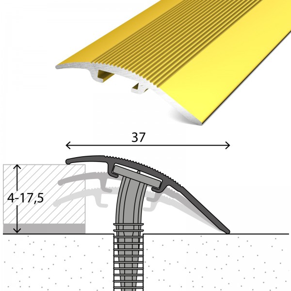 Anpassungsprofil 4-17,5 mm D.O.S 37 mm Gold 270 cm - 2052010270